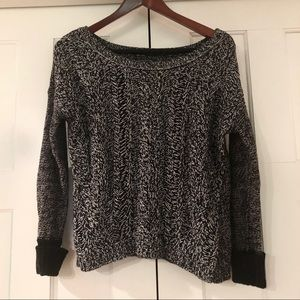 Black and White Scoop Sweater